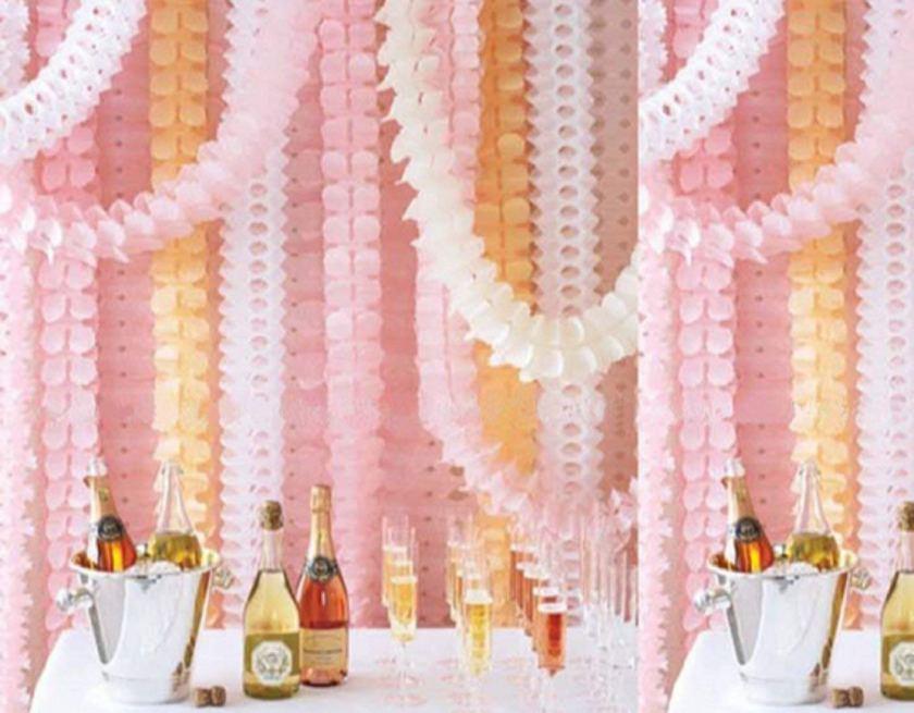 Flower backdrop are great wedding shower decor