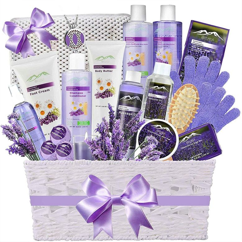 Spa basket for spa themed party