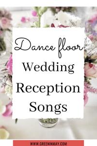 Reception dance floor wedding music