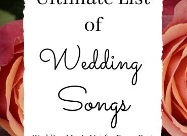 Ultimate list of wedding songs