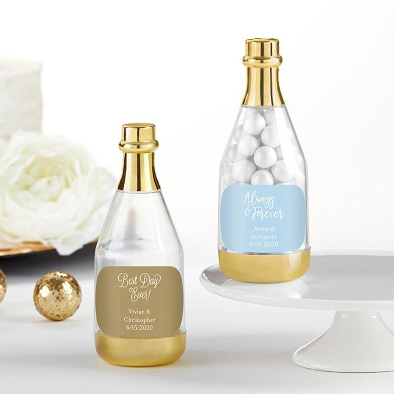 Champagne bottle favor containers