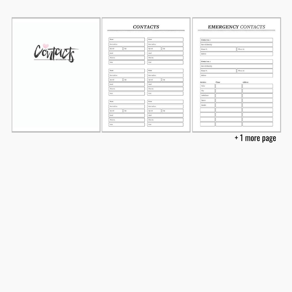 Printable life binder
