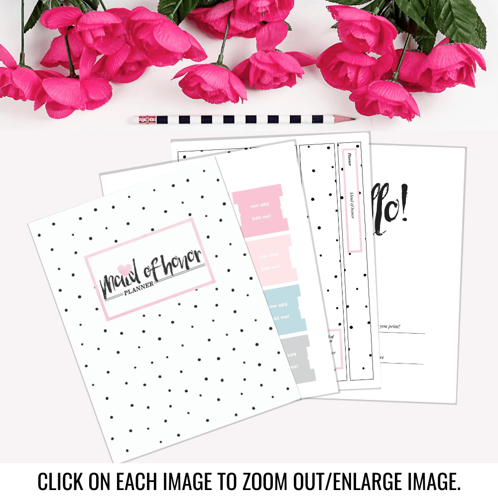 Maid of Honor Binder