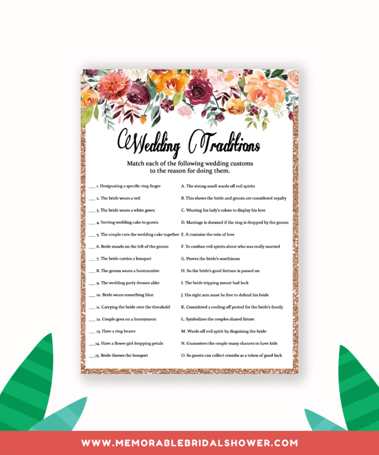 Fun and unique bridal shower games wedding traditions from greeninmay.com