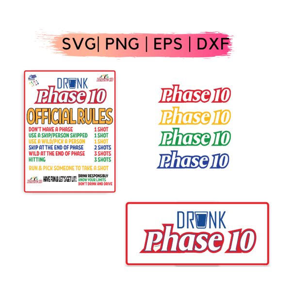 Drunk Phase 10 game SVG