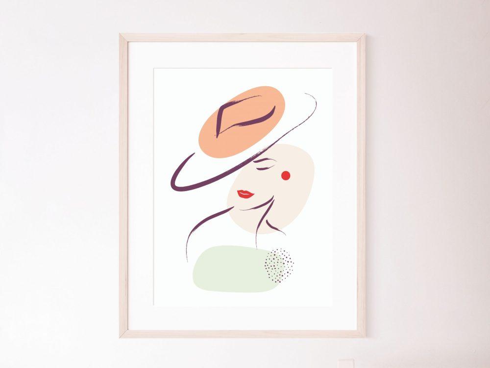 Printable woman line art