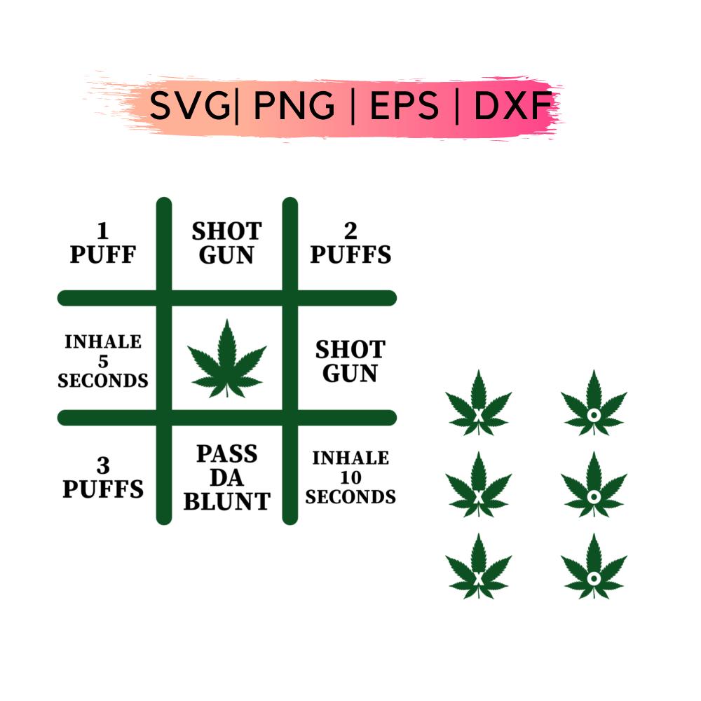 Smokers Tic Tac Toe Board Svg