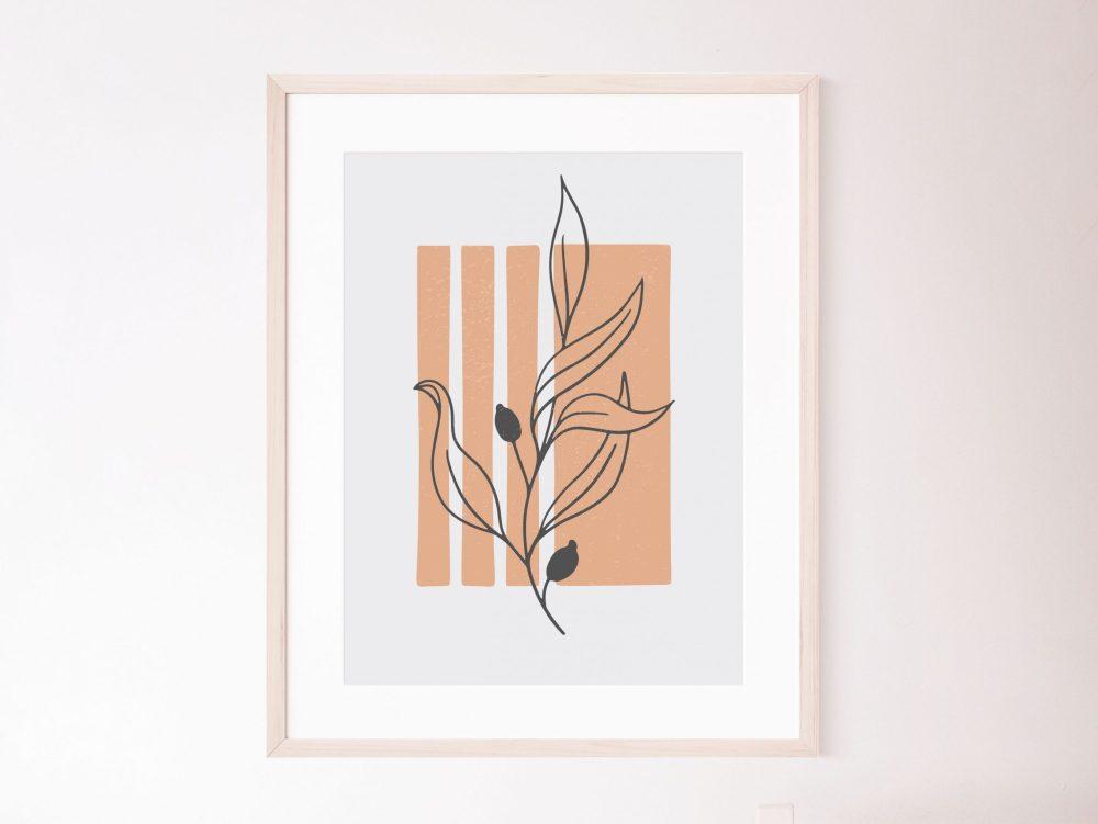 Abstract Botanical wall art