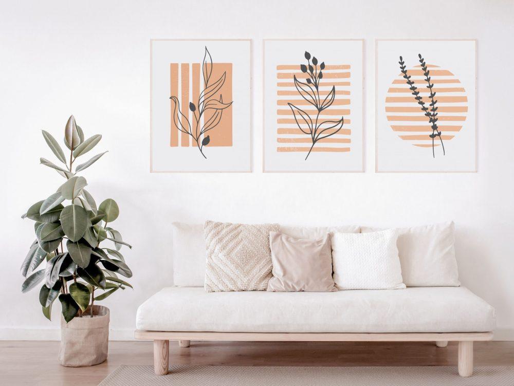 Abstract botanical art prints