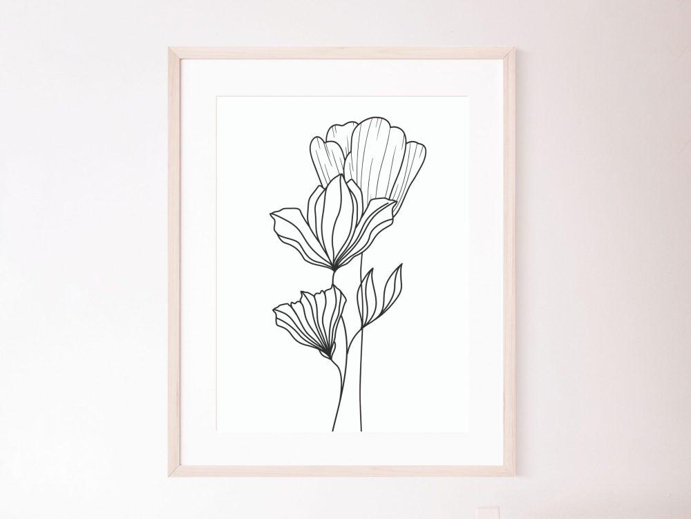 Flowers Line Prints