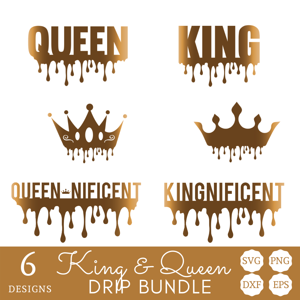 King and Queen with Drip SVG