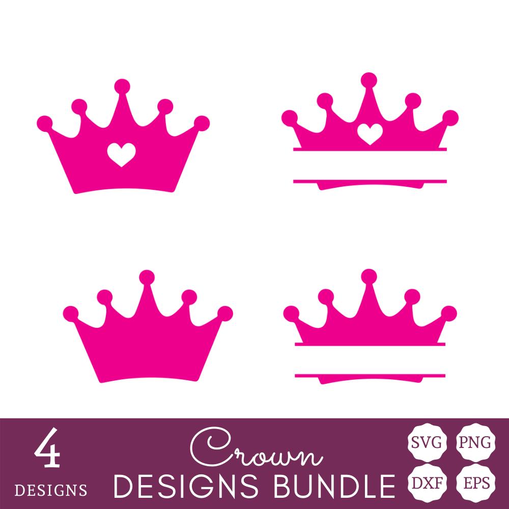 Pink Crowns SVG