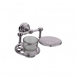Stainless Steel Tumbler Holder With Soap Dish