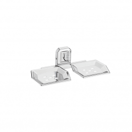 Double Soap Dish Holder Wall Mounted, Stainless Steel Soap Holders - The Green Interio