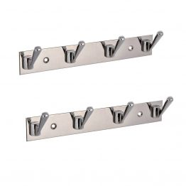 stainless steel multi robe hook - The Green Interio
