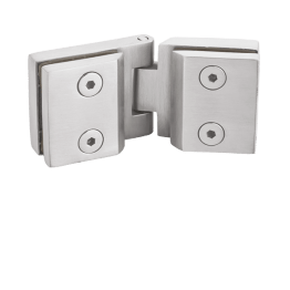 Cabinet Door Glass to Glass Hinges 180 Degree for bathroom glass door - The Green Interio