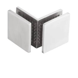 Glass to Glass 90° Glass Connector SS 304 Casting for fixing glass in shower area - The Green Interio
