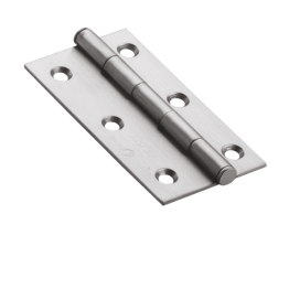 "Stainless Steel Commercial Hinges Cut Type - 3"" X 1/2"" X 3/4"" X 2mm Thick"