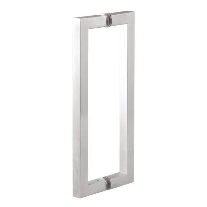 Glass Door Pull Handle Square SS304, Architectural Glass Door Handles Hardware, SS 304 Glass Door Pull Handle Square SS - SS304 Glass Door Pull Handle Square Tube Type - The Green Interio