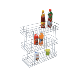 Stainless Steel Triple Basket Pullout - Triple Pull Out Basket - Green Interio