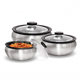Clear Steel Casseroles Gift Set