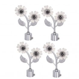 Off White Flower Curtain Bracket The Green Interio Fittings Store