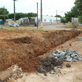 Warehouse 160908: Footings for the new warehouse.