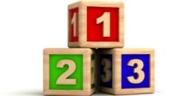 3 cubes en bois