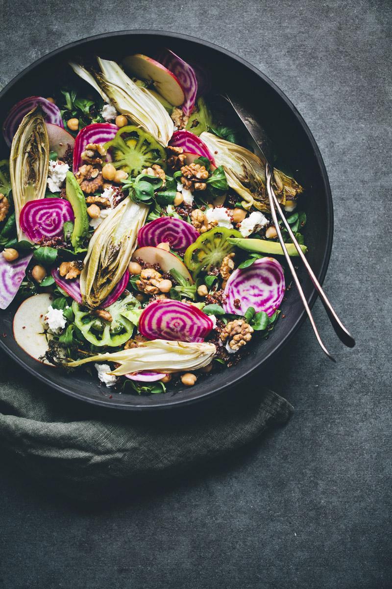 Beet, Endive & Quinoa Rainbow Salad