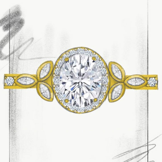 Custom Jewelry Design Sketching CAD