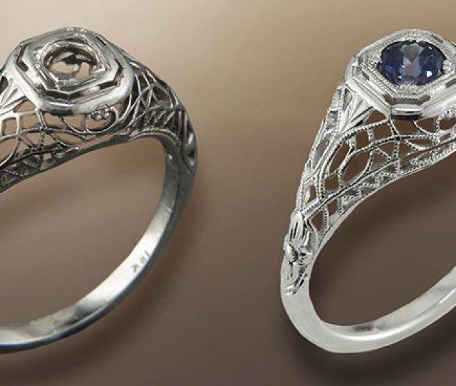 An Estate Ring Restored Jewelry Repair