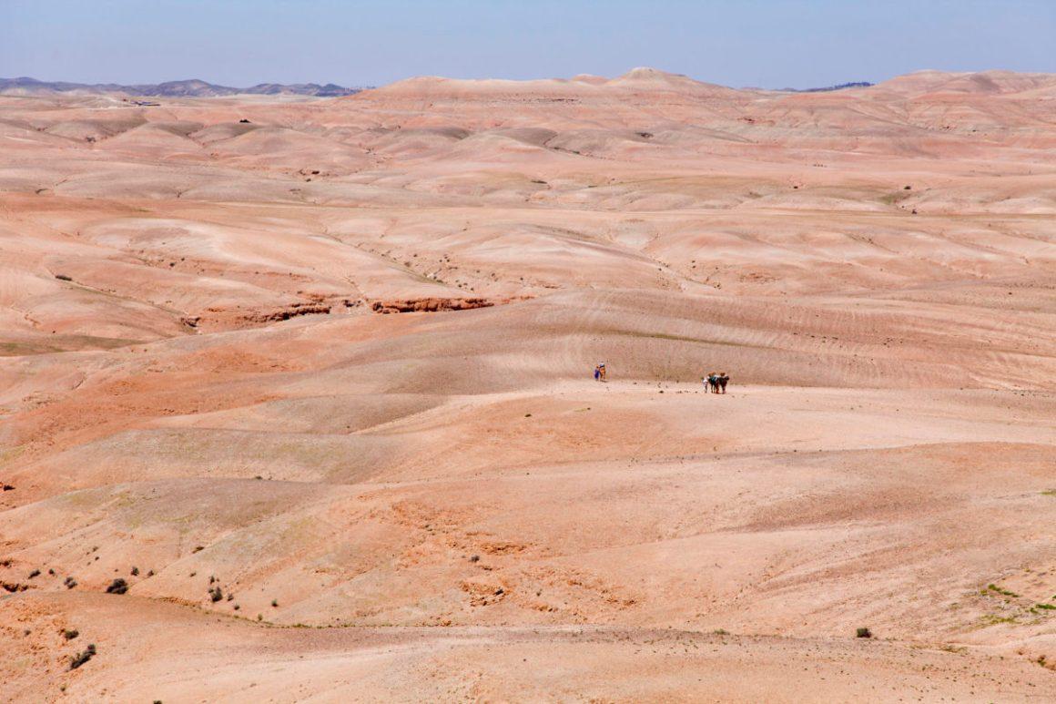 Désert d'Agafay, Maroc. © Elodie Rothan