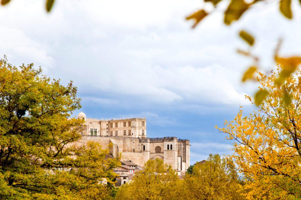 La silhouette du château de Grignan