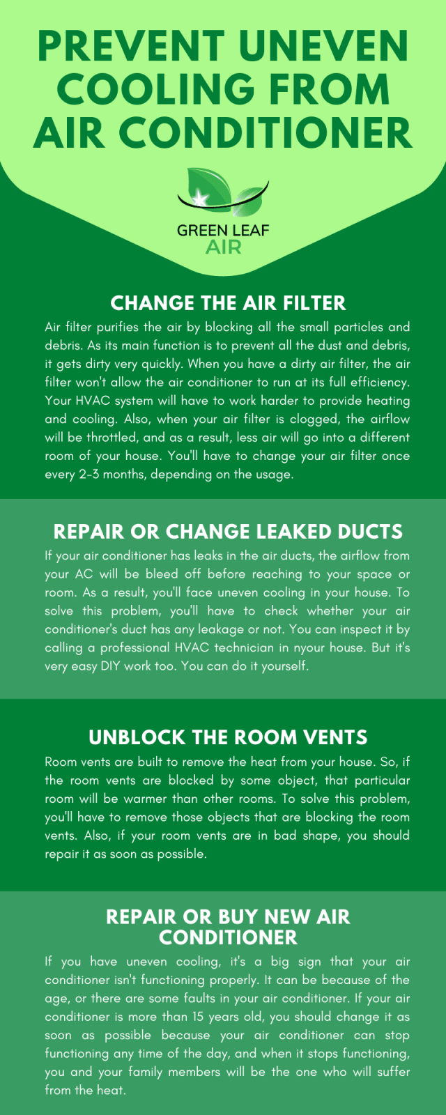 Prevent Uneven Cooling from Air Conditioner