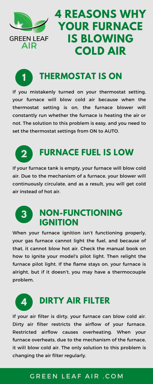 4 Reasons Why Your Furnace Is Blowing Cold Air