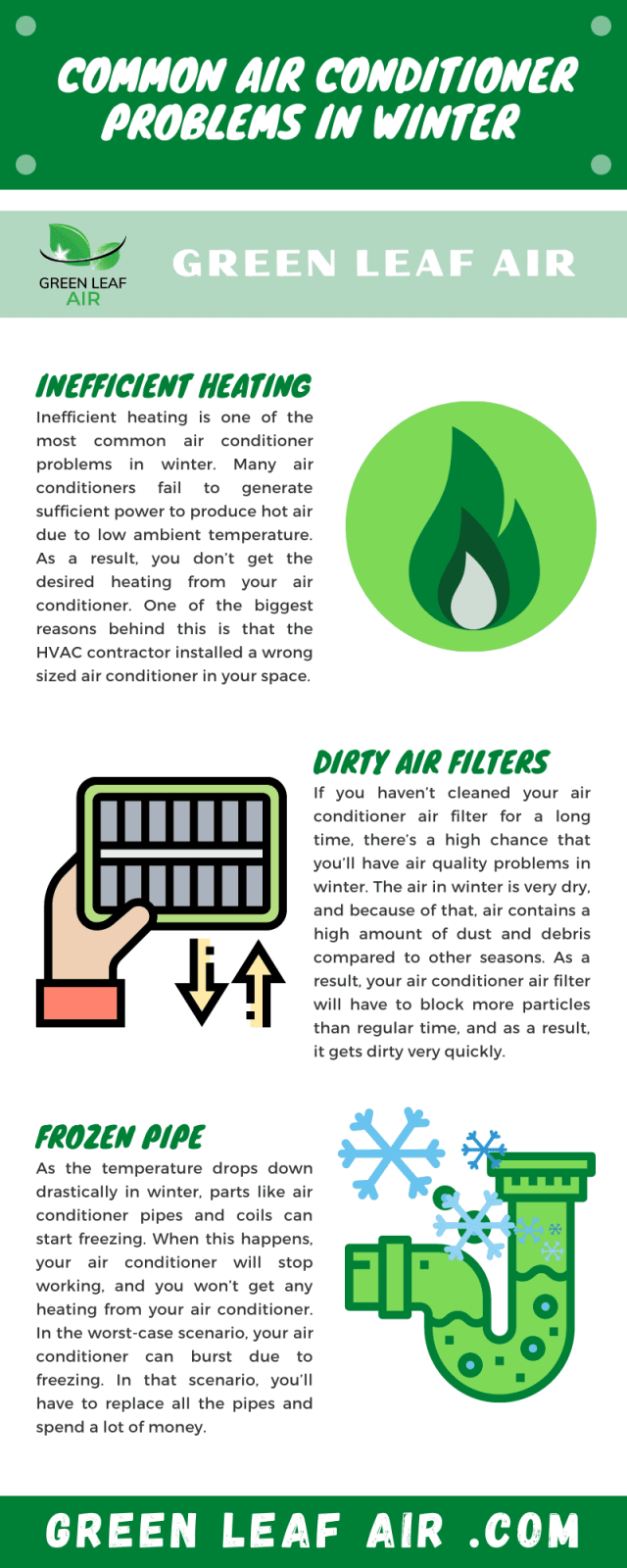 Common Air Conditioner Problems in Winter