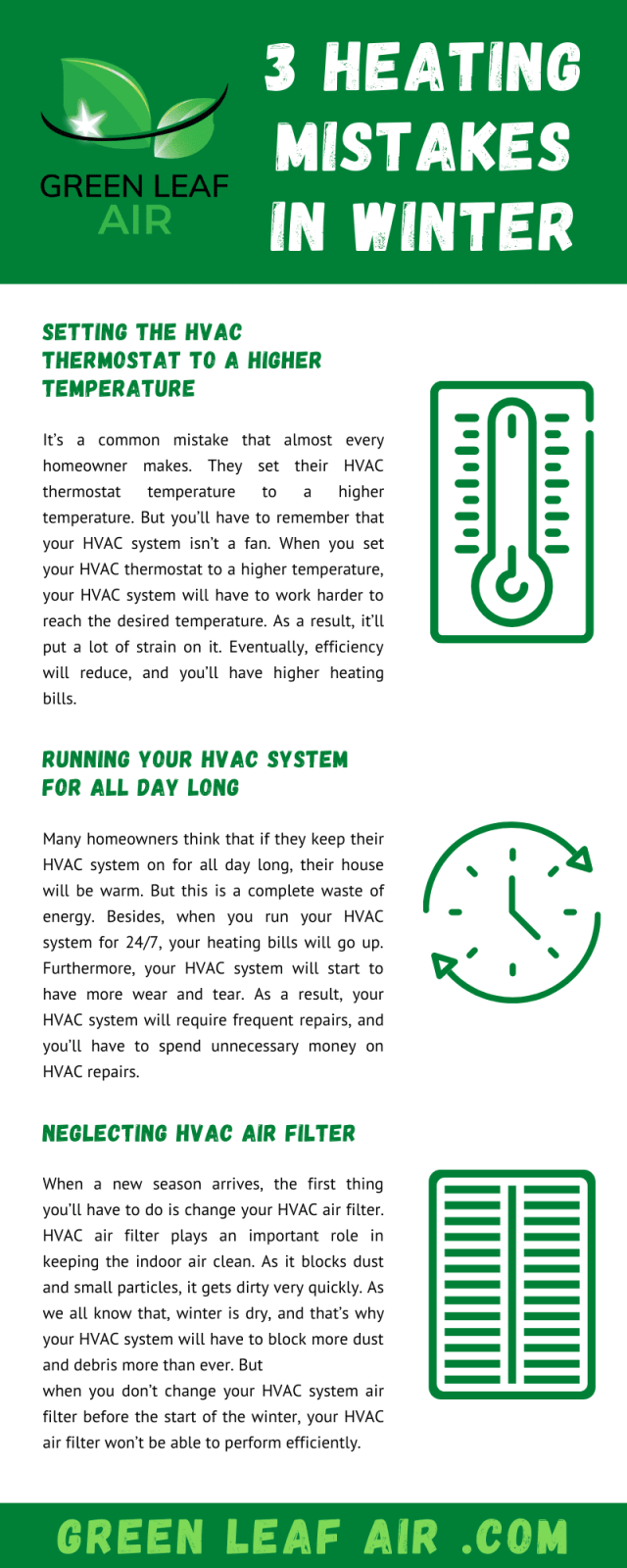3 Heating Mistakes in Winter