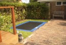 Ontwerp tuin met trampoline