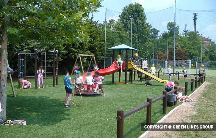 Realizzazione parco giochi a Vimodrone