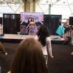 The Sweat Equity Fitness Stage at the 2017 Green Living Show