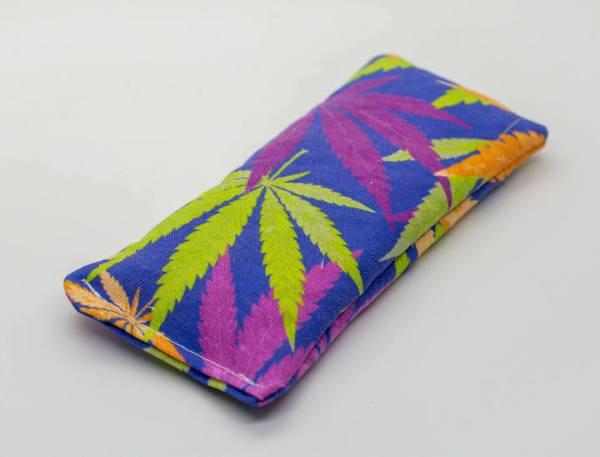 Fun Cannabis Print Lavender eye pillow