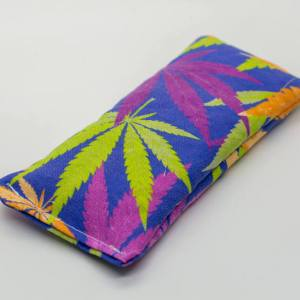 Fun Cannabis Print Lavender eye pillow