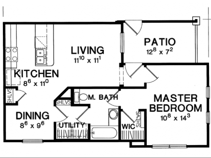 1 Bed / 1 Bath / 667 sq ft / Deposit: $750 / Rent: $1,299