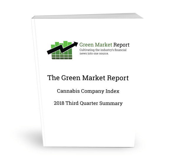 Cannabis Company Index - 2018 Third Quarter Summary
