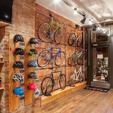 Bikes on the wall - photo: Standert Bicycles