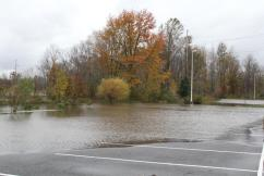 The parking lot from where I had to move my car.