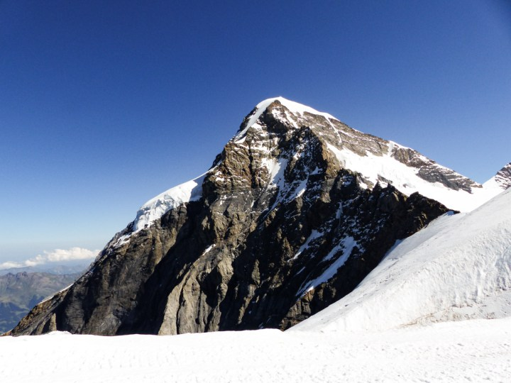 In the lap of Jungfrau in the Swiss Alps