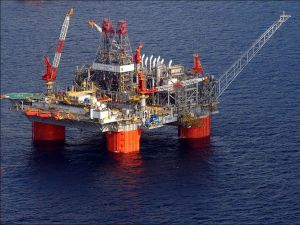 Thunder Horse Semi-Submersible Offshore Oil Rig