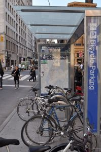 Bike Corral In NYC