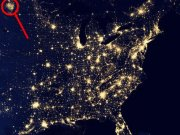 North Dakota Natural Gas Flares Seen from Space